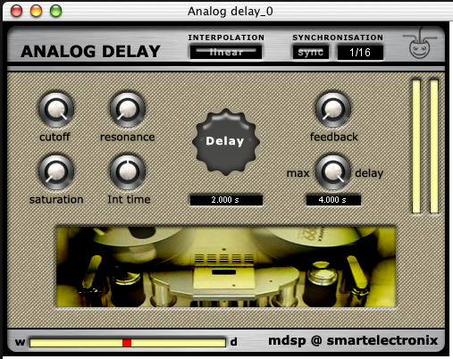 mdsp - AnalogDelay