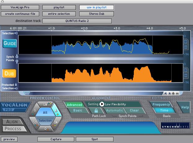 Usando o Vocalign Pro