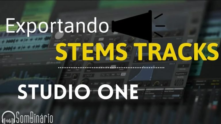 Presonus Studio One: Exportando Stem Tracks