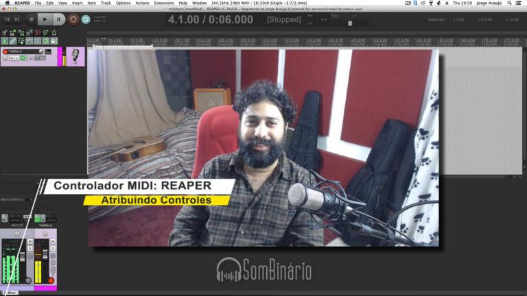 Configuração MIDI REAPER - Atribuindo Controles