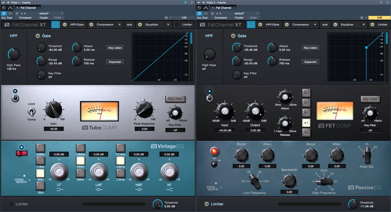 Presonus Studio One: Fat Channel XT
