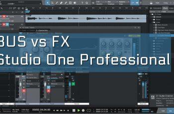 Qual a diferença entre o canal Bus e FX e Pre Fader e Post fader? [Studio One]