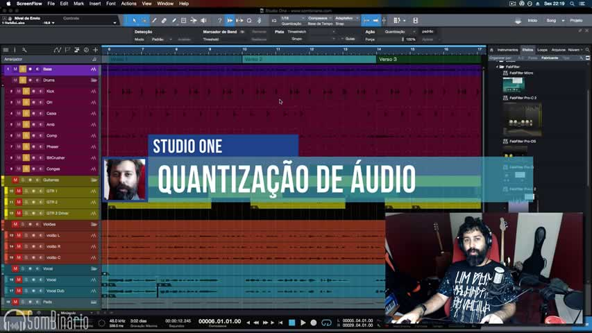 Quantizar Audio com Studio One Professional