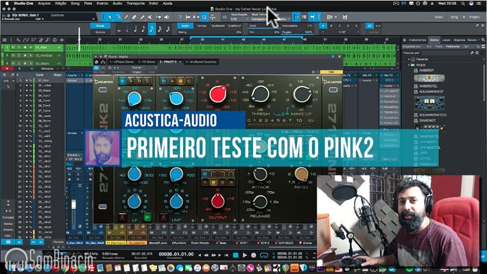 Primero teste prático com PINK2 da Acustica Audio [SIMULAÇÕES DA API]