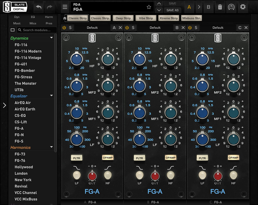 Slate Digital VIRTUAL MIX RACK: FG-A - Equalizador API 550
