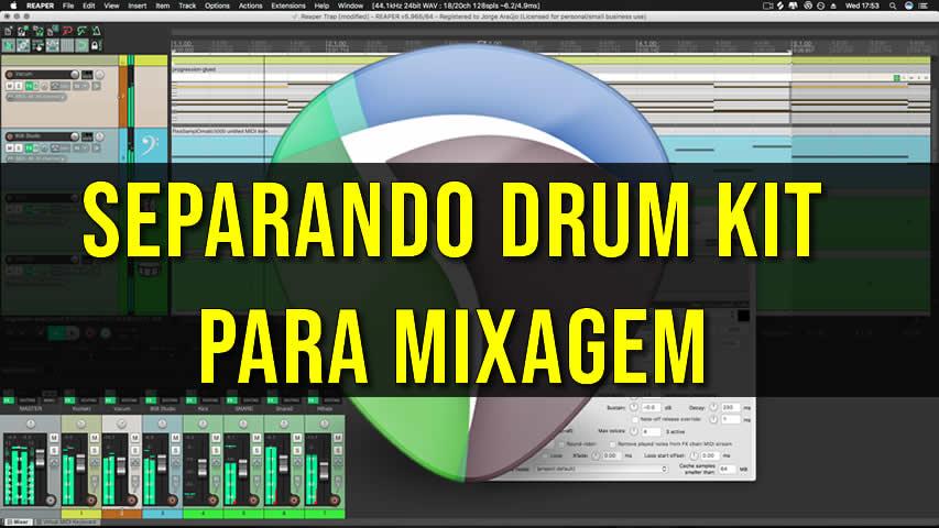 Separando Drum Kit para a Mixagem [REAPER]