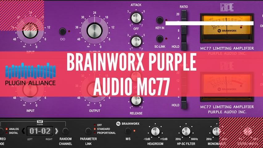 Plugin Alliance Brainworx Purple MC 77