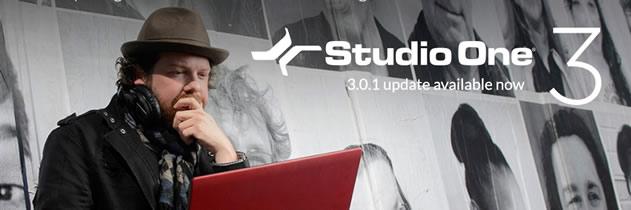Studio One 3 UPDATE para 3.0.1 Disponível!